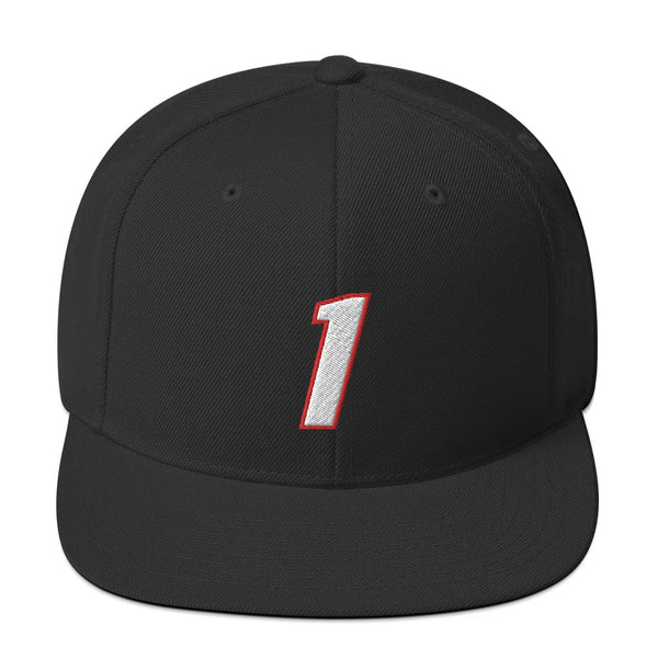 Chris Bosh #1 Snapback Hat-Player Number Hat-Coverage Gear