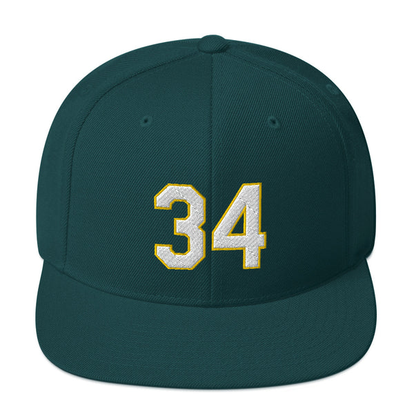 Rollie Fingers #34 Snapback Hat-Player Number Hat-Coverage Gear