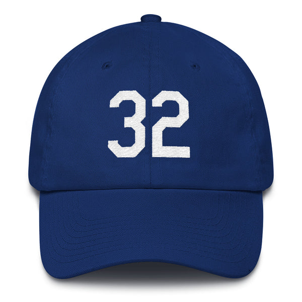 Sandy Koufax #32 Dad Hat-Player Number Hat-Coverage Gear