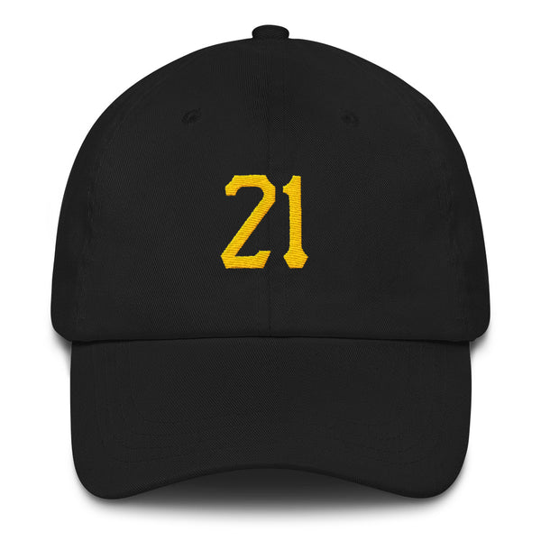 Roberto Clemente #21 Dad Hat-Player Number Hat-Coverage Gear