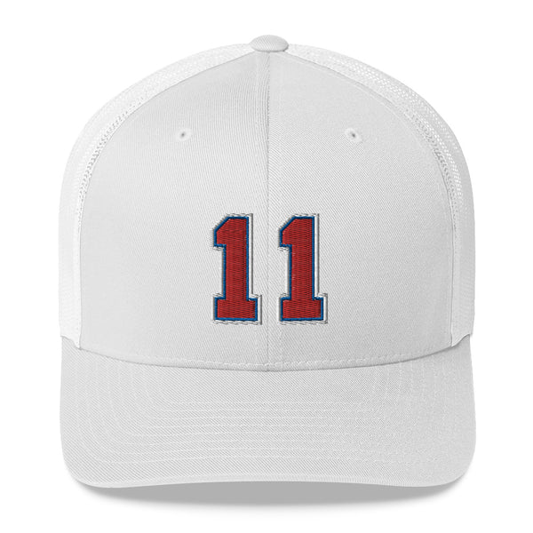 Elvin Hayes #11 Trucker Cap-Player Number Hat-Coverage Gear