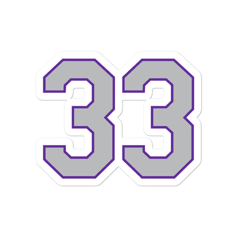 Larry Walker #33 Sticker