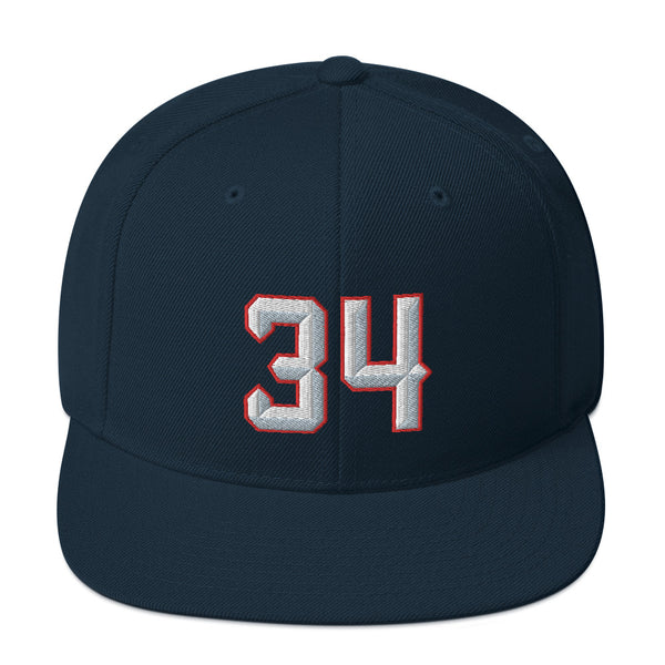 Hakeem Olajuwon #34 Snapback Hat-Player Number Hat-Coverage Gear