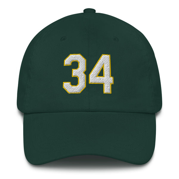 Rollie Fingers #34 Dad hat-Player Number Hat-Coverage Gear