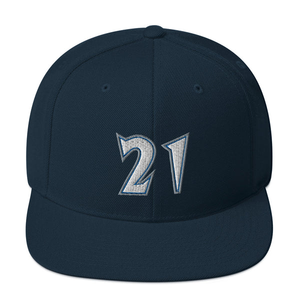 Kevin Garnett #21 Snapback Hat-Player Number Hat-Coverage Gear
