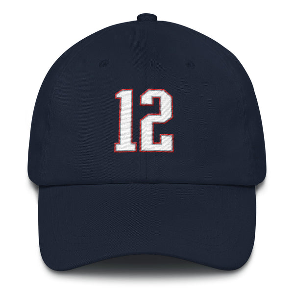 Tom Brady #12 Dad Hat-Player Number Hat-Coverage Gear