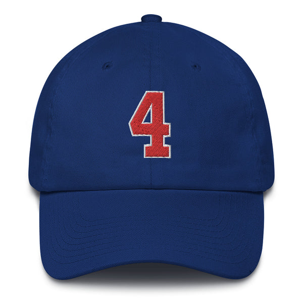 Joe Dumars #4 Dad Hat-Player Number Hat-Coverage Gear