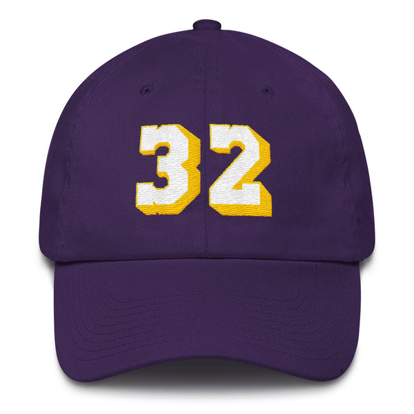 Magic Johnson #32 Dad Hat-Player Number Hat-Coverage Gear