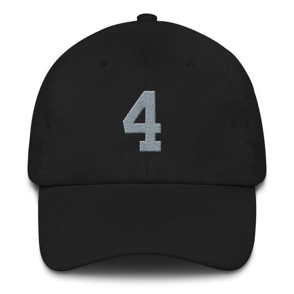 Derek Carr #4 Dad Hat-Player Number Hat-Coverage Gear