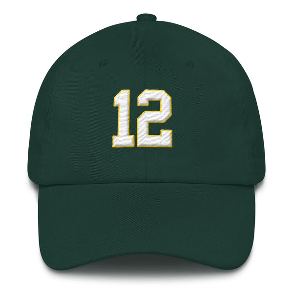 Aaron Rodgers #12 Dad Hat-Player Number Hat-Coverage Gear
