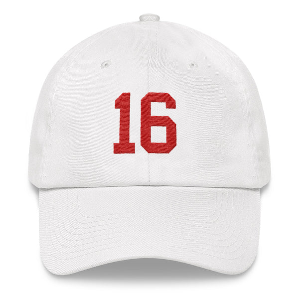 Joe Montana #16 Dad Hat-Player Number Hat-Coverage Gear