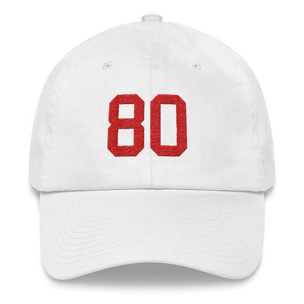 Jerry Rice #80 Dad Hat-Player Number Hat-Coverage Gear