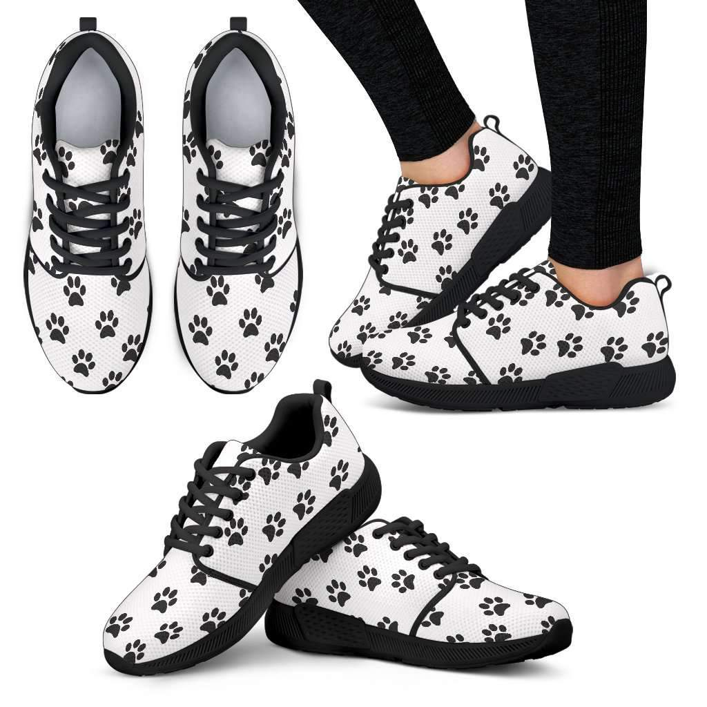 Women's Athletic Paw prints Sneakers Umisfashion Store
