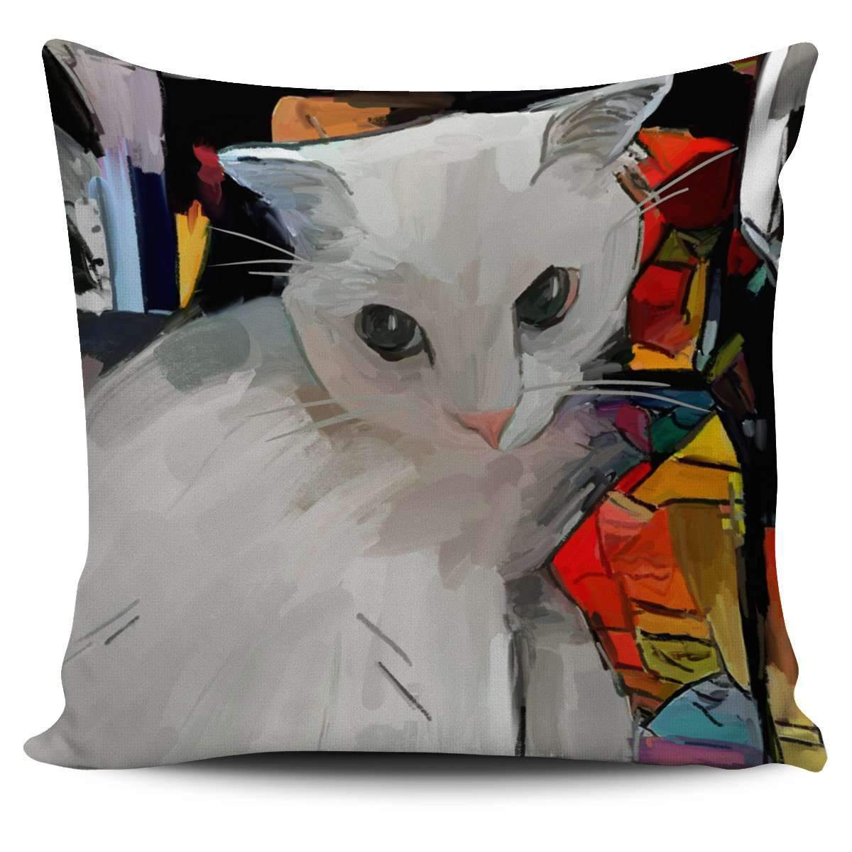 White Cat Pillow Cover Umisfashion Store