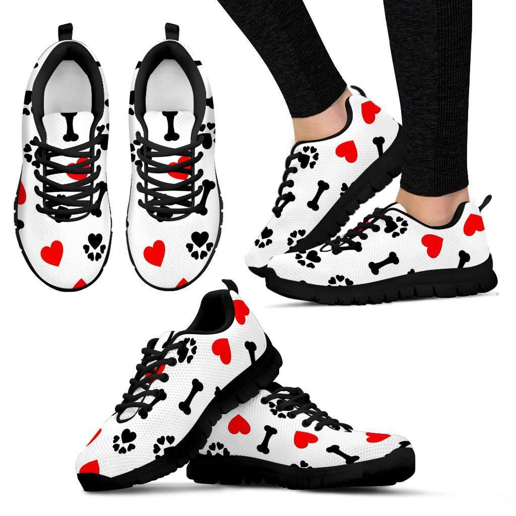 LADIES DOG LOVE SNEAKERS BLACK Umisfashion Store