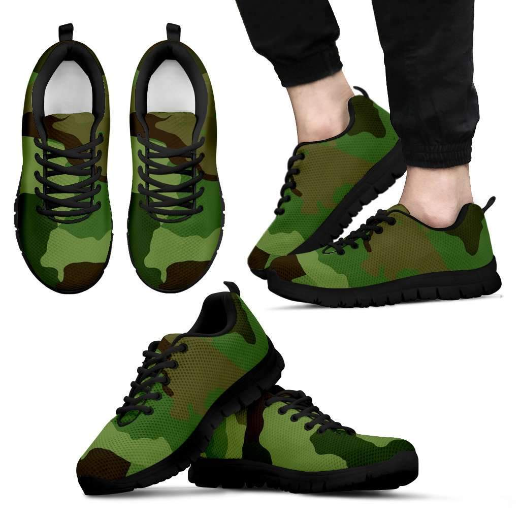 Green Camo Men's Sneakers Umisfashion Store