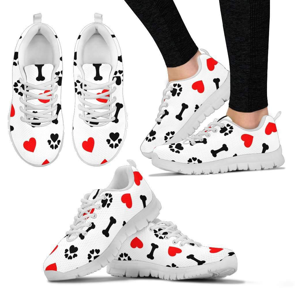 LADIES DOG LOVE SNEAKERS WHITE Umisfashion Store