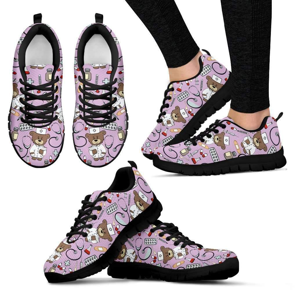 Nurse Sneakers Black Sole Umisfashion Store