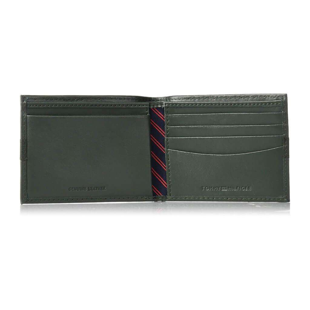 Tommy Hilfiger Men's Bifold Wallet Olive Accessories Umisfashion Store
