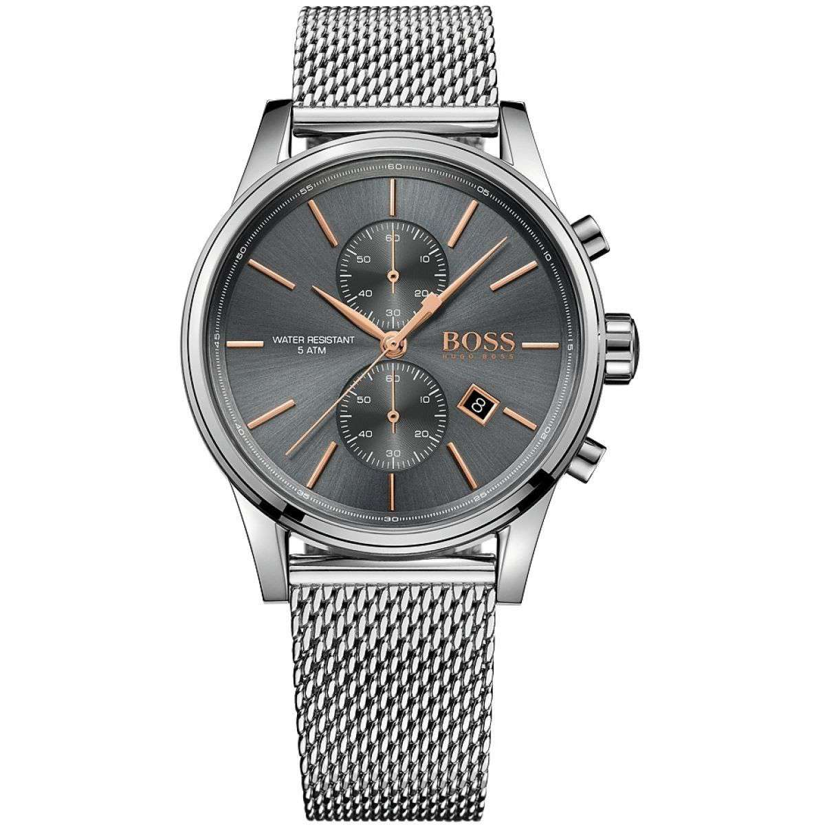 Hugo Boss Mens HB 1513440 Jet Chronograph Watch Steel Umisfashion Store