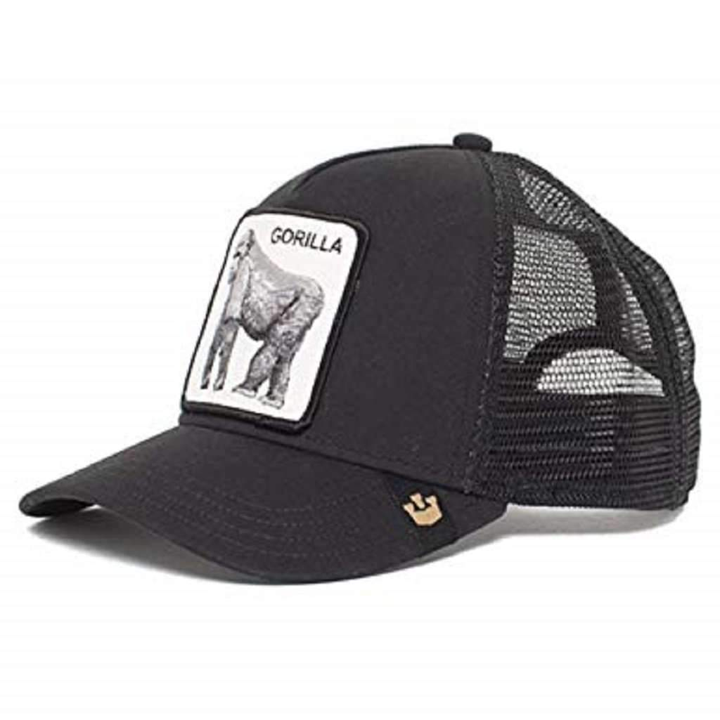 Goorin Men's Animal Farm Adjustable Brown Trucker Hat - 'Black King of the Jungle' Accessories Umisfashion Store
