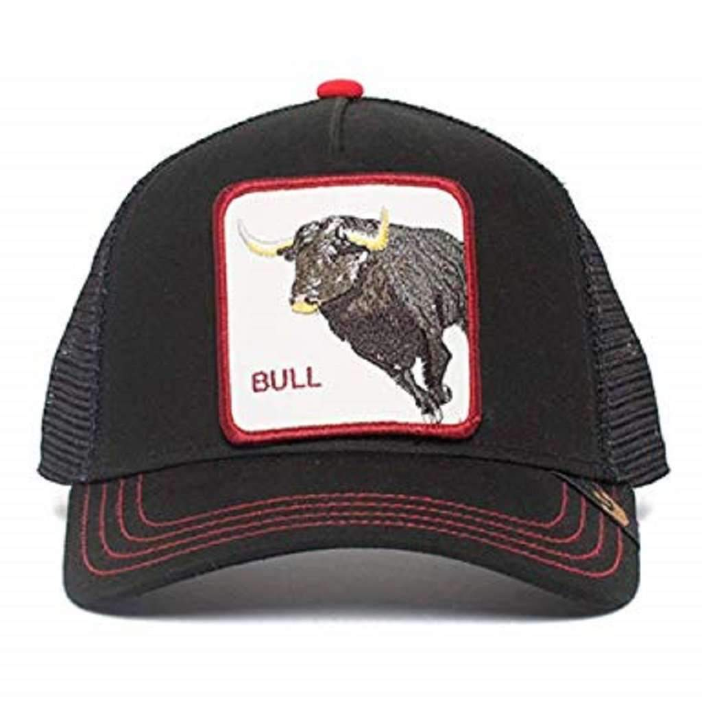 Goorin Men's Animal Farm Adjustable Brown Trucker Hat - 'Black Bull Honky' Accessories Umisfashion Store