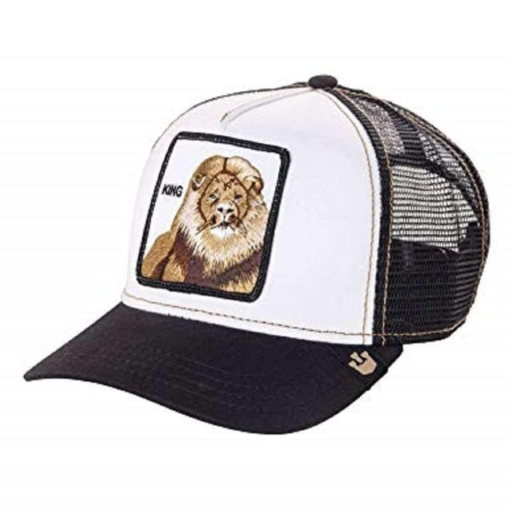 Goorin Men's Animal Farm Adjustable Brown Trucker Hat - 'King/Black' Accessories Umisfashion Store