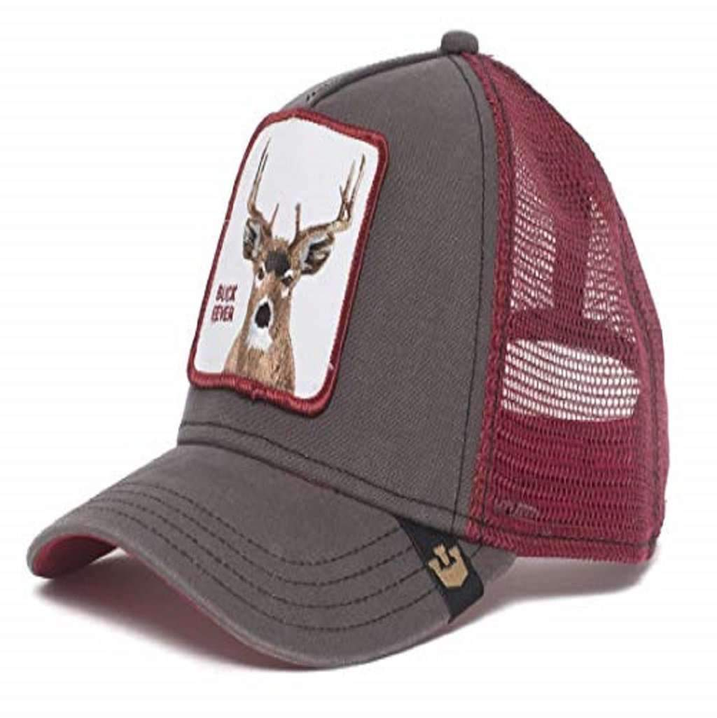 Goorin Men's Animal Farm Adjustable Brown Trucker Hat - 'Brown Deer' Accessories Umisfashion Store