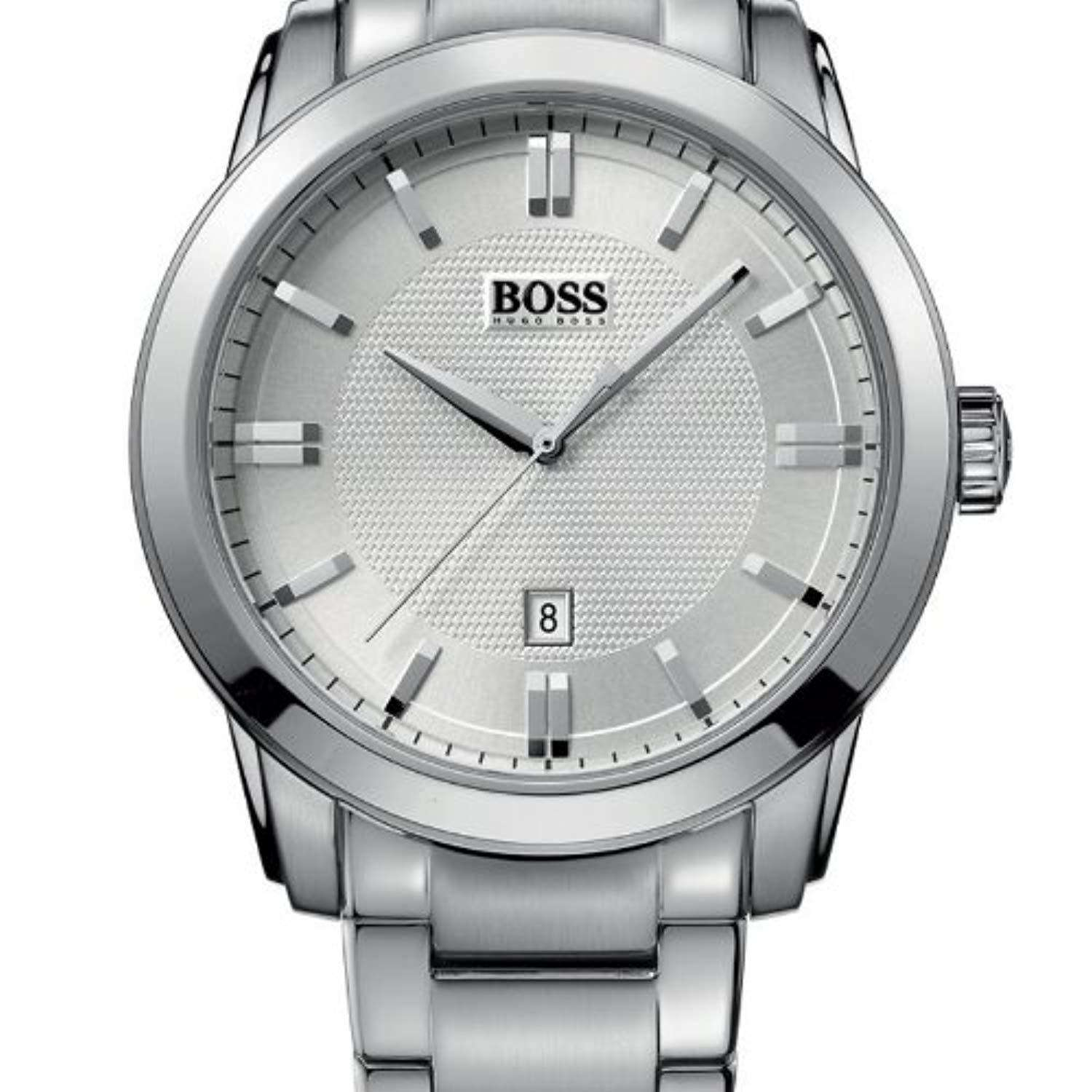 Hugo Boss HB 1512768 Calfskin Band Mens Watch Steel Umisfashion Store