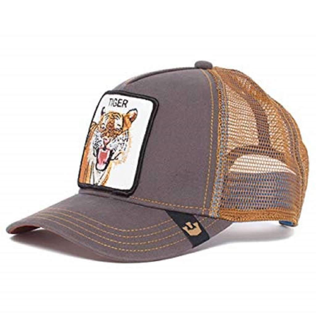 Goorin Men's Animal Farm Adjustable Brown Trucker Hat - 'Brown Eye of the Tiger' Accessories Umisfashion Store