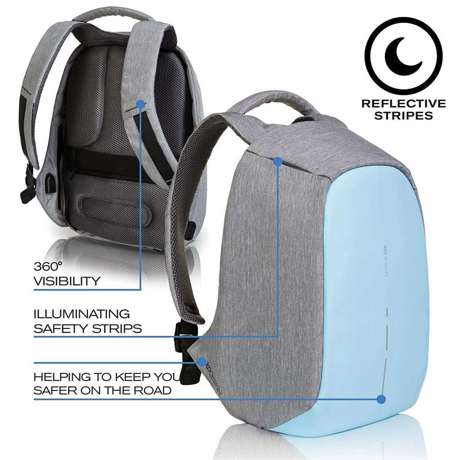 "XD Design Bobby Compact Anti-Theft 14"" Laptop Backpack with USB port Accessories Umisfashion Store"
