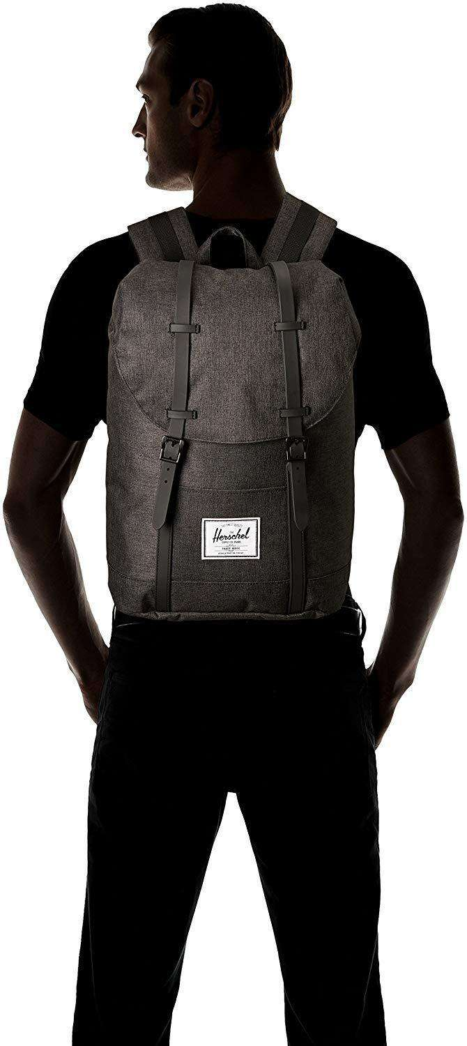 Herschel Retreat Backpack Mountaineering Style Unisex Bag Leather Umisfashion Store