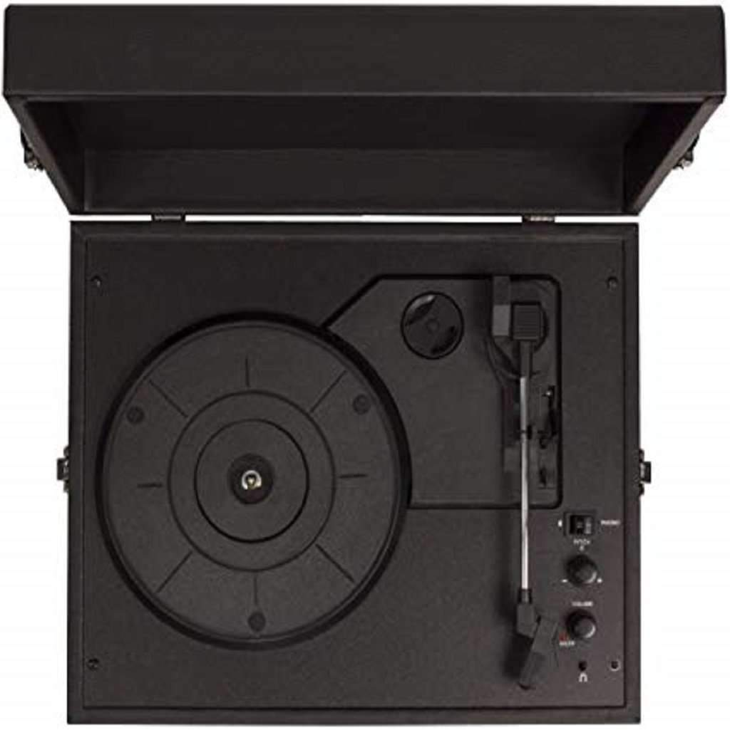 Crosley CR8017A-BK Voyager Vintage Portable Turntable Home & Living Umisfashion Store