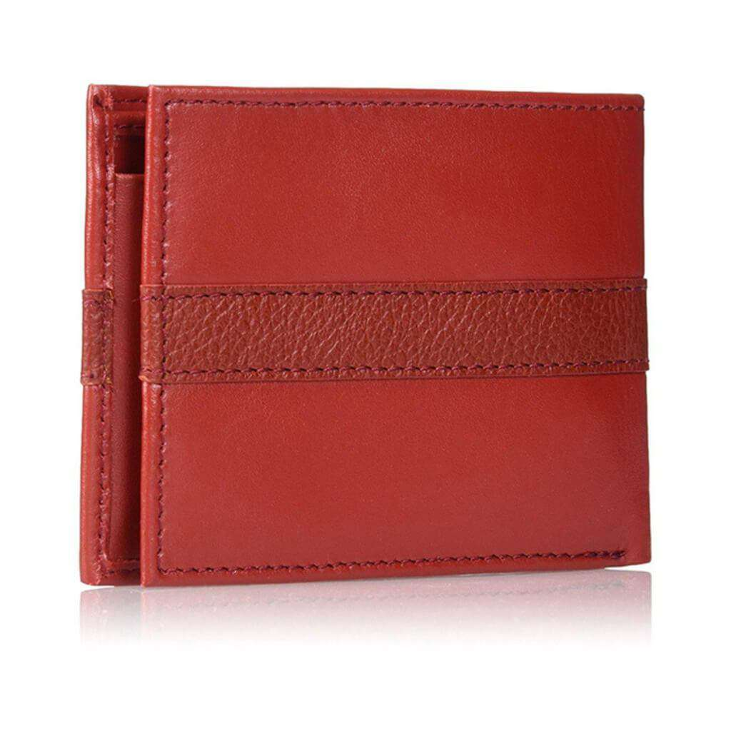 Tommy Hilfiger Men's Bifold Wallet Red Accessories Umisfashion Store