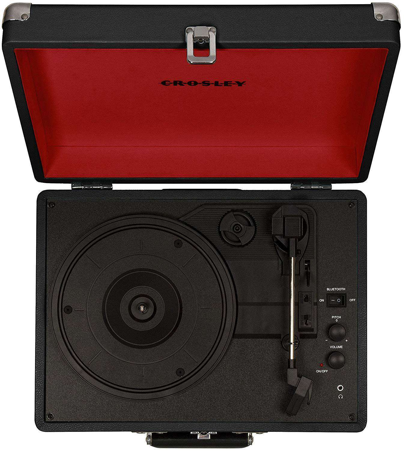 Crosley Cruiser Deluxe Vintage 3-Speed Suitcase Turntable With Multi-function Bluetooth And Dynamic Stereo Speakers Home & Living Umisfashion Store