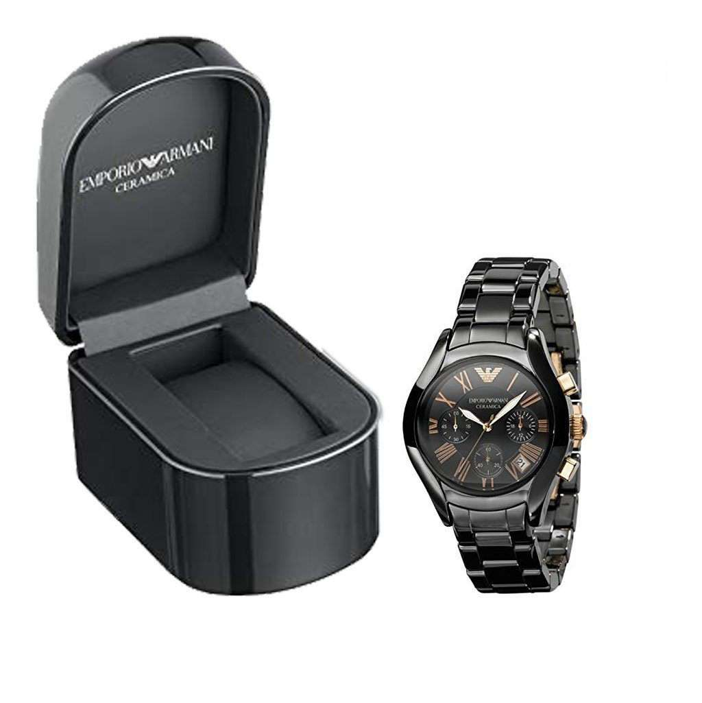 Emporio Armani Men's AR 1411 Black Ceramic Watch Ceramic Umisfashion Store