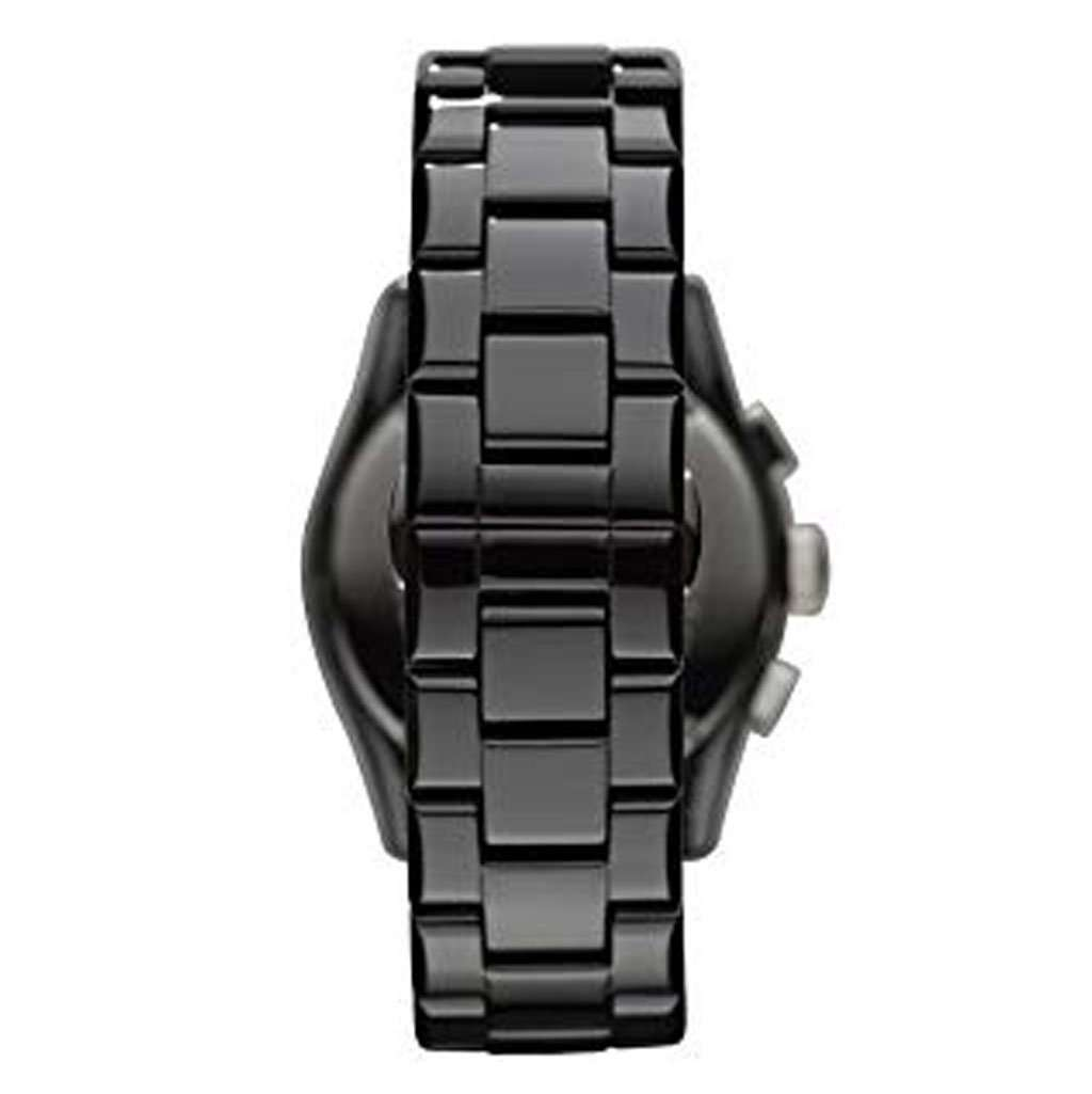 Emporio Armani Men's AR 1400 Black Chronograph Watch Ceramic Umisfashion Store