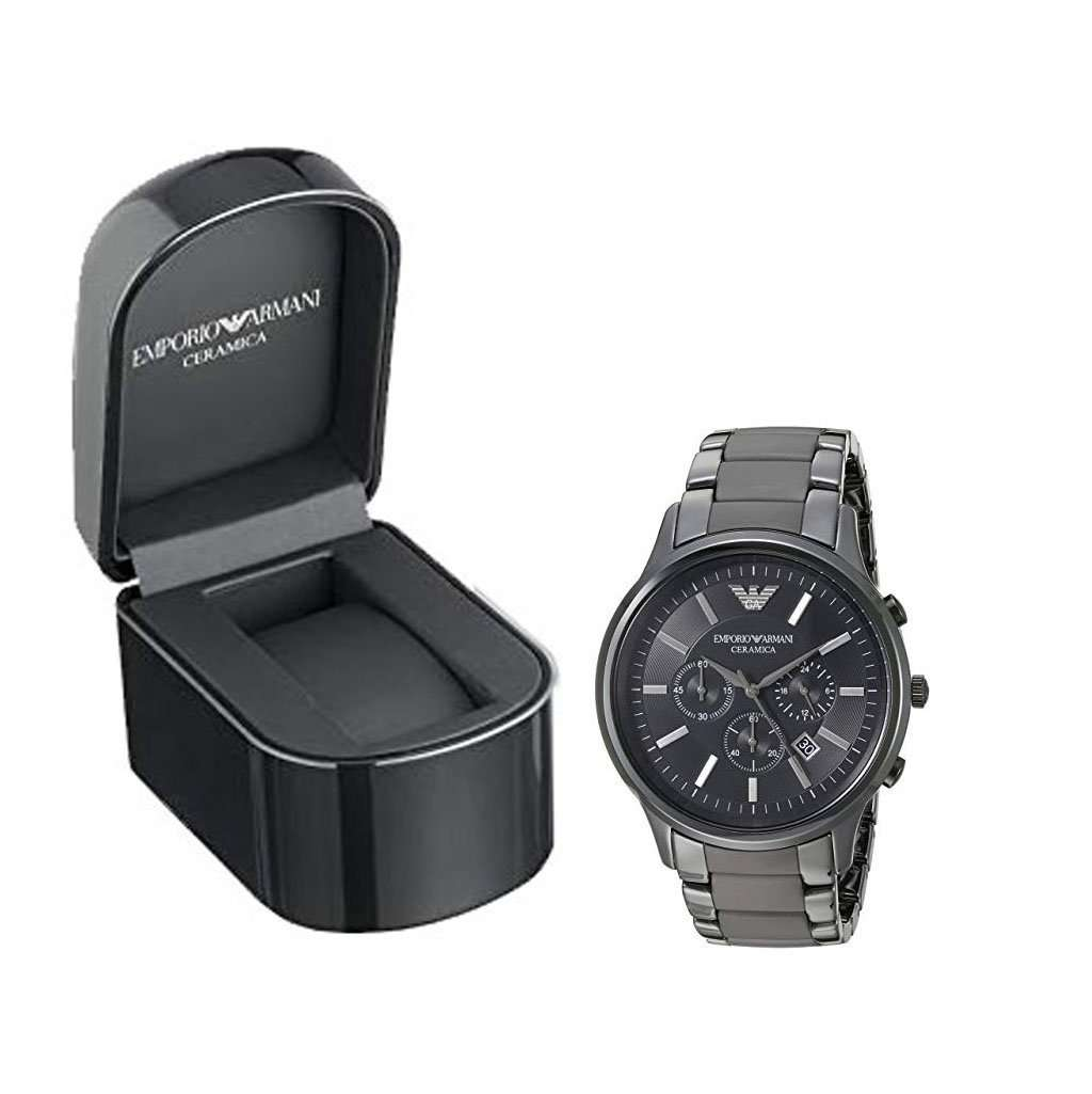 Emporio Armani AR 1451 Black Ceramica Men's Watch Ceramic Umisfashion Store