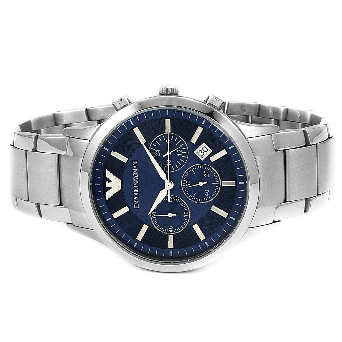 Emporio Armani Men's AR 2448 Chronograph Watch Steel Umisfashion Store