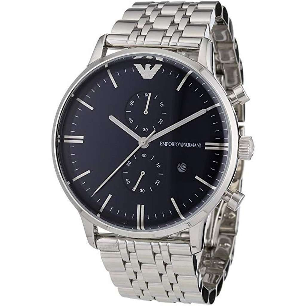 Emporio Armani AR 1648 Classic Chronograph Men's Watch Steel Umisfashion Store