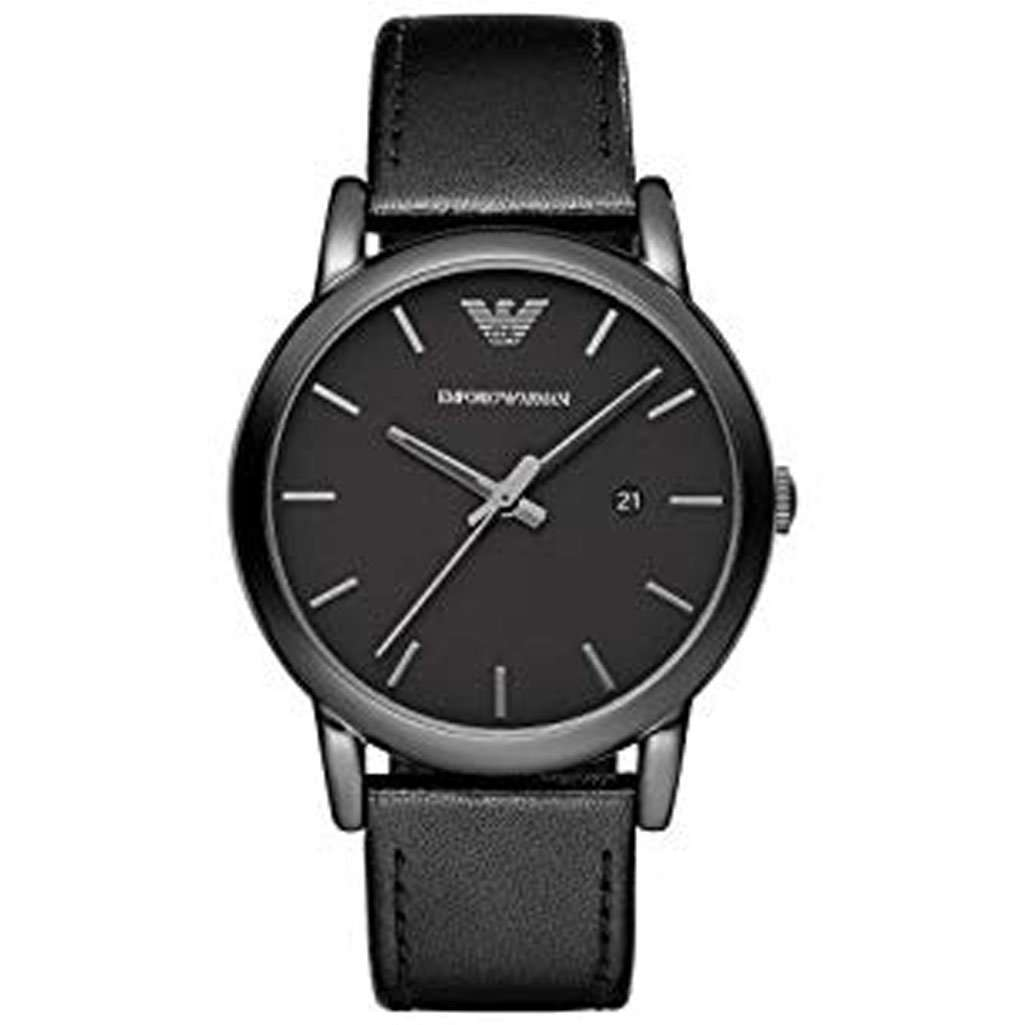 Emporio Armani Men's AR 1732 Black Leather Watch Steel Umisfashion Store