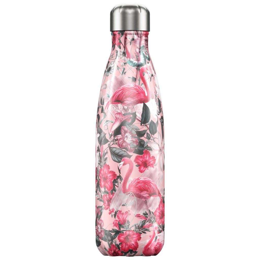 Chilly's Bottles - Reusable BPA-Free Stainless Steel Water Bottles (FLAMINGO) Steel Umisfashion Store