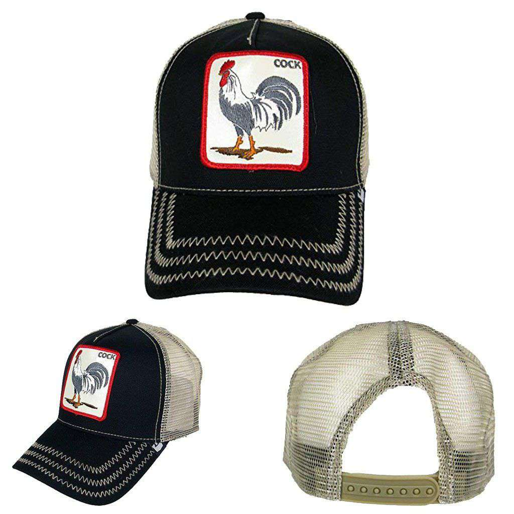 Goorin Men's Rooster 'Cock' Patch Trucker Cap Accessories Umisfashion Store