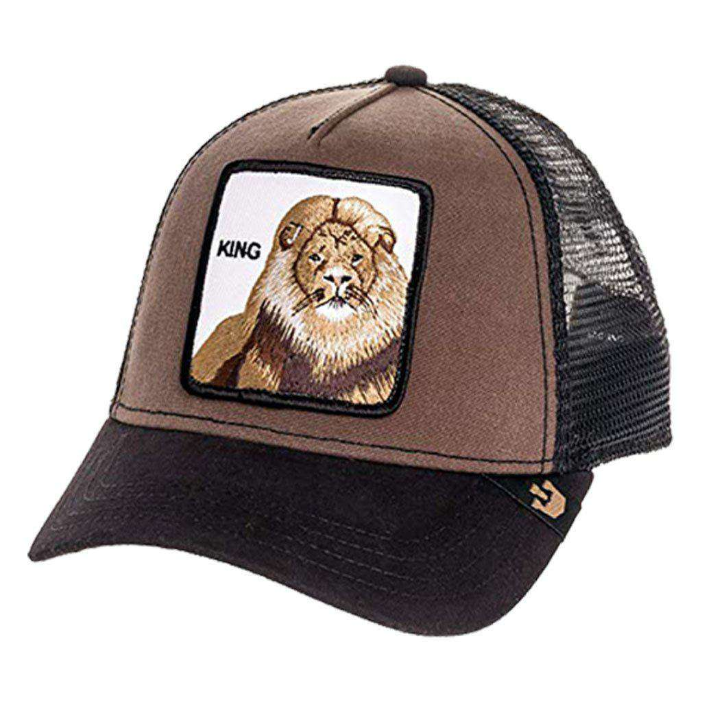 Goorin Men's Animal Farm 'King' Adjustable Brown Trucker Hat Accessories Umisfashion Store
