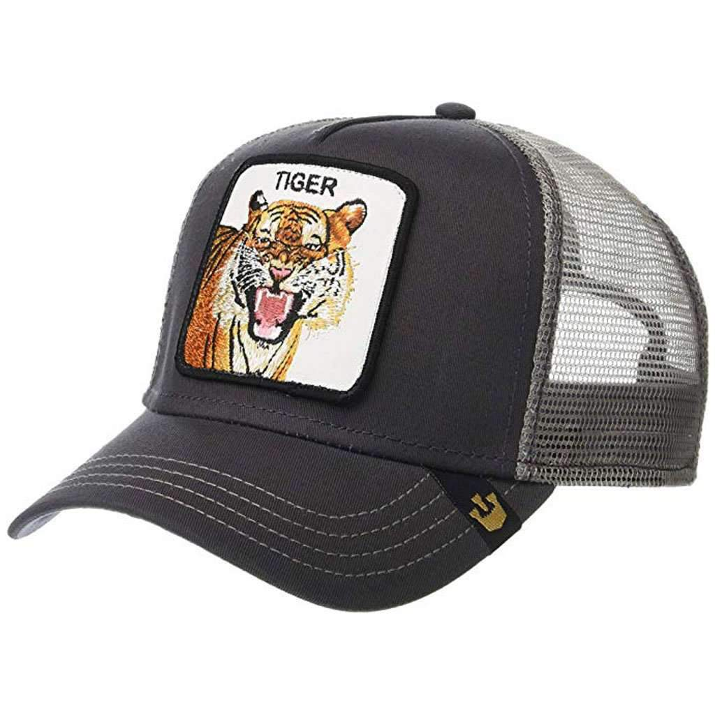 0b8ca85ad4aff Goorin Men s Animal Farm Adjustable Brown Trucker Hat -  Grey Eye of the  Tiger