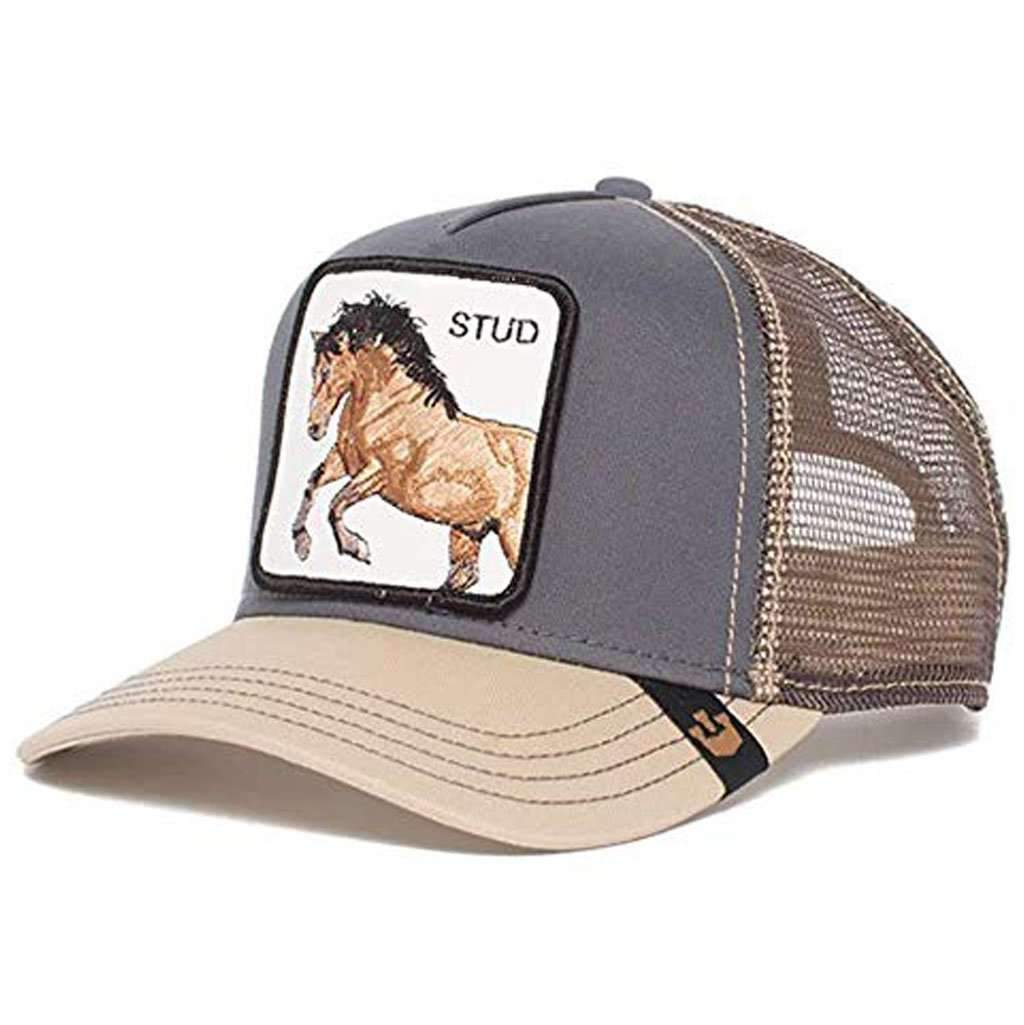 a7ed8634 Goorin Men's Animal Farm Adjustable Brown Trucker Hat - 'Grey You Stud'  Accessories Umisfashion