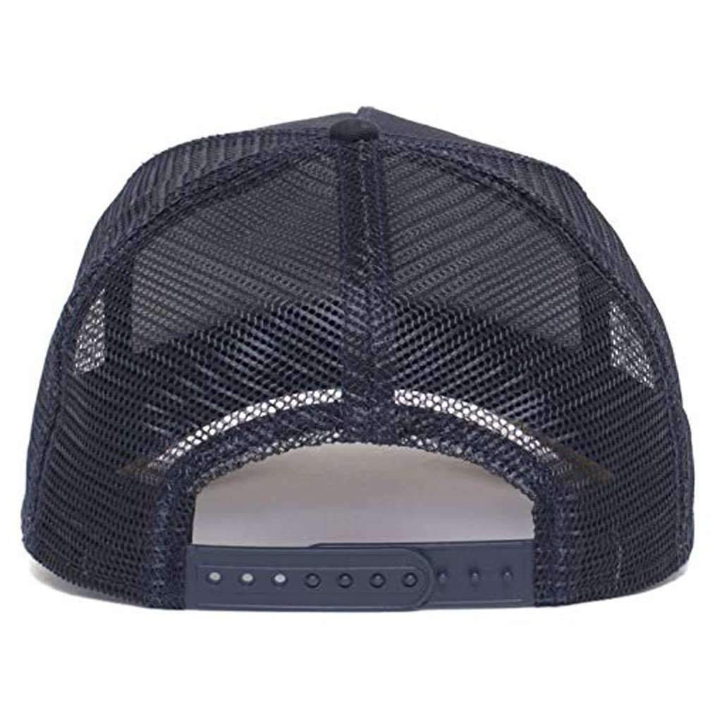 Goorin Men's Animal Farm Adjustable Brown Trucker Hat - 'Navy Dunnah' Accessories Umisfashion Store
