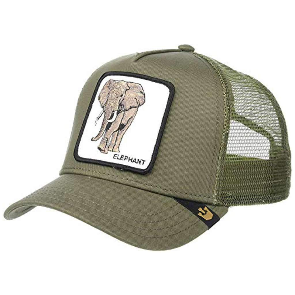 768f532f Goorin Men's Animal Farm Adjustable Brown Trucker Hat - 'Olive Elephant'  Accessories Umisfashion Store
