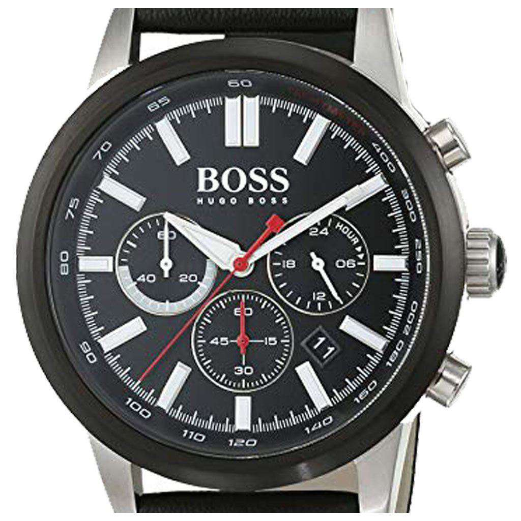Hugo Boss Men's - 1513191 Chronograph Leather Watch Steel Umisfashion Store