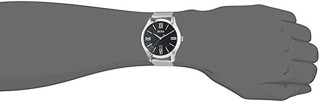 Hugo Boss 1513442 Men's Black/Silver Stainless Steel Wristwatch Metal Umisfashion Store
